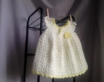 Crochet PATTERN - baby dress crochet pattern, easy baby dress pattern, crochet toddler dress pattern, easy toddler summer dress crochet pdf