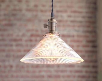 Pendant Lighting - Hanging Lamp - Glass Shade - Mod Pendant - Island Lamp - Pendant Fixture