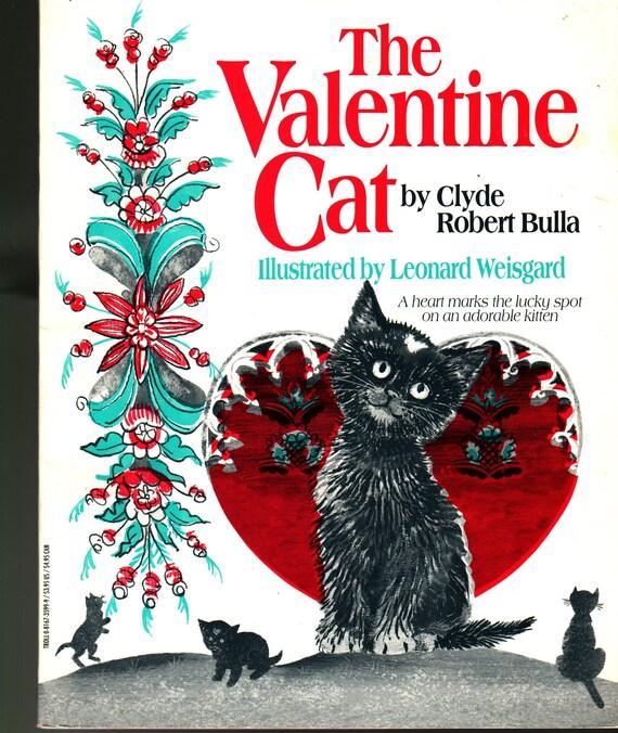 The Valentine Cat + Clyde Robert Bulla + Leonard Weisgard + 1994 + Vintage Kids Book