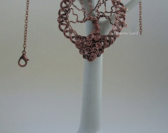 Celtic Tree Of Life ~ Copper Wirework Necklace With Celtic Braid