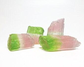 Watermelon Tourmaline Quartz Crystal Soap Set - Choose your Scent