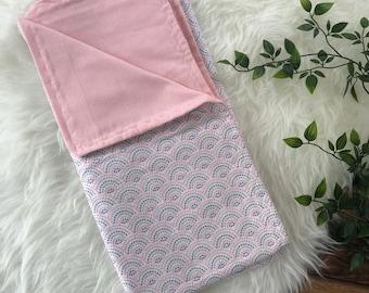 Pink Baby blanket, Swaddle Blanket, Stroller Blanket, Nursery bedding, Baby Girl, Newborn Blanket, receiving Blanket, Baby Shower Gift,