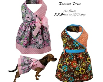 Roxanne Dog Dress Pattern -ALL SIZES- Dog Clothes Sewing Pattern PDF, Dog Dress, Dog Harness, Pet Clothes Tutorial