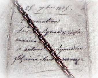 Tierracast - Antique Copper - Fine Oval Cable Chain - Sold Per Inch - High Quality