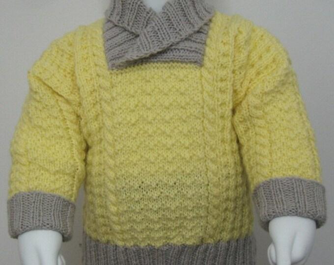 pdf pattern for Skerries Sweater for Children by Elizabeth Lovick - instant download