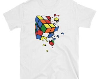 Broken Rubix Cube Puzzle T-Shirt