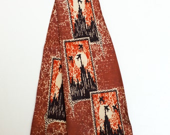 Original vintage 1940s swing tie - birds