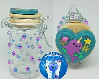 Narwhale Glass Jar