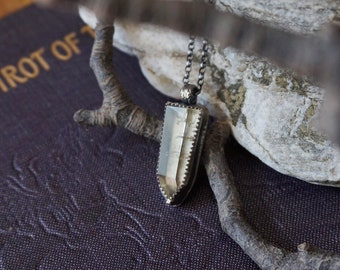 Citrine Pendant in Sterling Silver