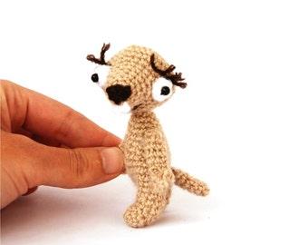 little sloth, stuffed lazy animal, amigurumi beige sloth, funny gift, crochet sloth, beige gift, tiny stuffed animal, mini plush sloth, kids