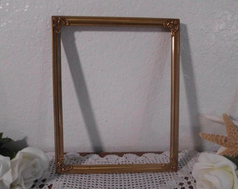 Vintage Ornate 8 x 10 Gold Metal Frame French Paris Chic Hollywood Regency Rustic Country Cottage Home Decor Wedding Decoration Gift Her