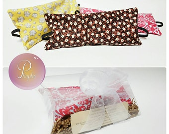 Lavender & Chamomile Aromatherapy Relaxation Sleep Mask Dream Eye Pillow with Elastic Strap