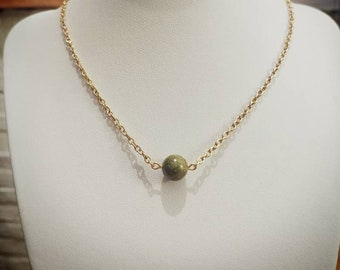 Small handmade collar with unakite
