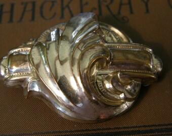 Early Victorian Holloware brooch
