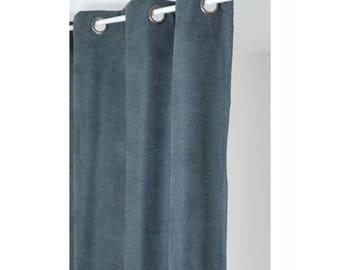 Rideau isolant thermique 140x260 pret à poser gris foncé
