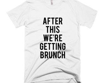 RESERVED: 5 Custom Bridal Party T-shirts CREWNECKS - Bridal Party Getting Ready Outfit - Bride robe Bridesmaid