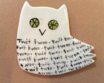 Owl (twit twoo) Brooch