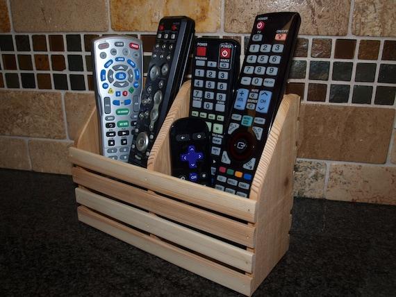 Tv Remote Holder Tv Remote Control Caddy Wooden Remote