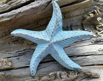 Cast Iron Starfish - Beach House Decor, Desk Accessories, Paper Weight, Stocking Stuffer, Nautical Decor, Beach Wedding, Ocean Lover