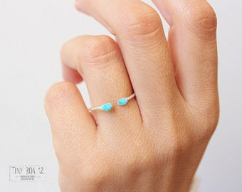 Raw TURQUOISE Ring,Turquoise Sterling Silver Ring,Raw Stone Ring, Turquoise Ring,Stackable Rings, Raw Stone Jewelry, Turquoise, Raw Stones,