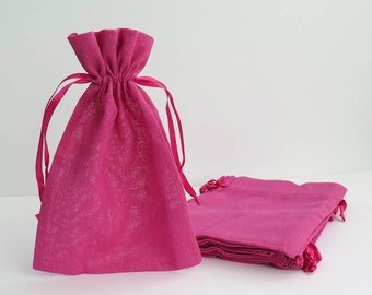 """Pink Cotton Muslin Bags 