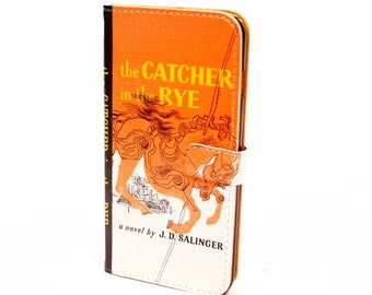 Book phone /iPhone flip Wallet case- Catcher in the Rye for  iPhone X, 8, 7, 6, 6 7 & 8 plus, 5 Samsung Galaxy S9 S8 S7 S6 Note 4 5 7 8 LG
