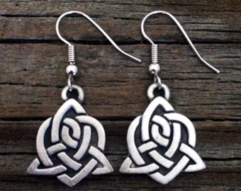 Celtic Sister Knot Earrings   Celtic Jewelry   Irish Jewelry   Scottish Jewelry   Handcrafted Jewelry   Fine Pewter by Treasure Cast