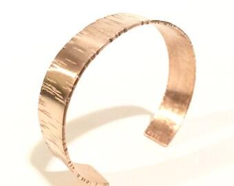 Bronze Aspen Bark Cuff - part of the Aspen Collection - Handmade Reiki Infused