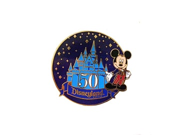 Disneyland 50th Anniversary Lapel Pin, Disney Lapel Pin, Disneyland Celebrate, Collectible Disney, Mickey Lapel Pin, Mickey Pin, Disney Pin