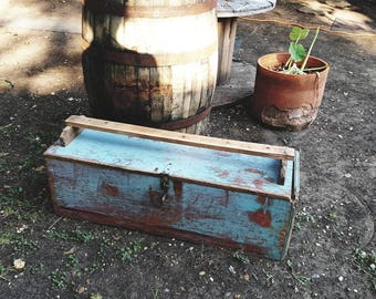 Large Vintage 3ft Hand Crafted Carpenters Tool Box
