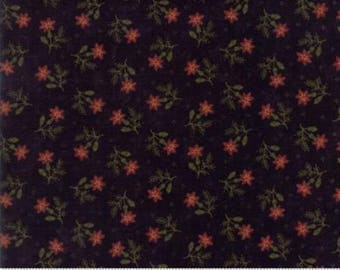 THISTLE FARM moda fabric by 1/2 yard Kansas Troubles Quilter-small red  flowers on black 9531-19