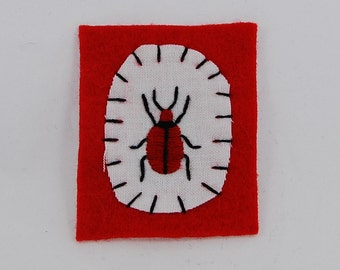 Red Beetle Embroidered Patch