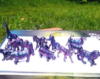 Animal Place Card Holders; Holographic Animal Themed  Card Holders; Color Changing; Wedding Reception Decor; Seating Markers