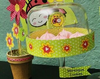 Ladybug Love Birthday Party Kit in PINK - Printable PDF Complete Set 0081