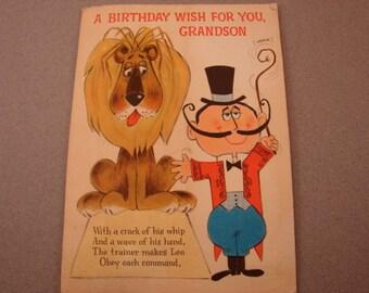 Leo the Lion Circus Birthday Card