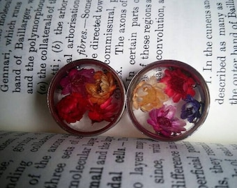 Real flower plugs. FOR PAIR.