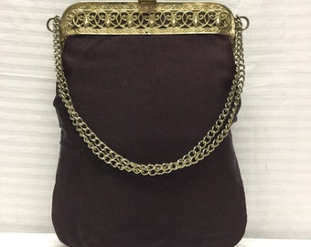 Vintage Purse, Plum Formal Handbag