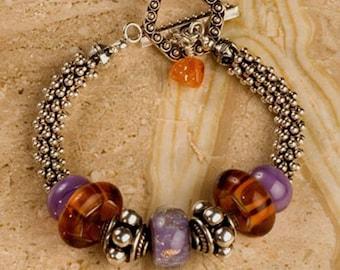 Beaded bracelet, Lampwork beads