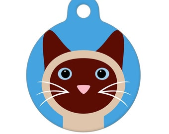 Pet ID Tag - Siamese Cat Pet Tag, Dog Tag, Cat Tag