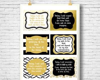 Prayer Cards, Scripture cards, Bible verse, Card set, printable cards, Scripture Art bible verse, Printable Prayer Cards, Daily Prayer