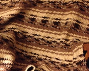 Sweater striped afghan- brown