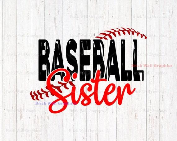 baseball sister svg baseball svg baseball sister clipart rh etsy com Baseball Uniform Clip Art Little Sister Clip Art