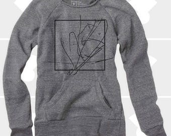 Abstract - Women's Slouchy Sweatshirt