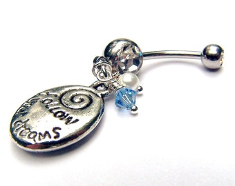 Follow Your Dreams Bellybutton Body Jewelry Belly Ring Belly Button Ring Navel Ring