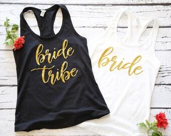 Bride Tribe | Bachelorette Party Shirts | Bridesmaid Shirts | Bridal Party Shirts | Bride Shirt | Bachelorette Party | Bridal Party Gift