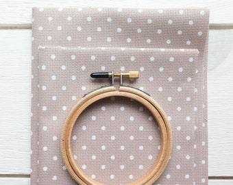 Polka Dot Cross Stitch Fabric - 20 count Aida Cloth | 100% Cotton Cross Stitch Embroidery Aida Fabric - POLKA DOT
