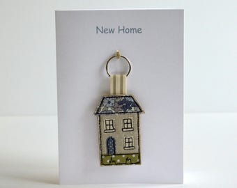 New Home Card and House Keyring / Keyfob, new house card, moving home card, housewarming card, house warming gift, moving house card