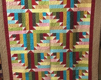 Handmade Large Throw Size Quilt