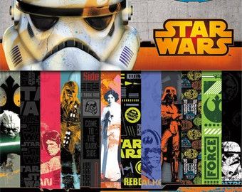 Star Wars Scrapbooking Paper Stack Pack 100 Sheets | 12x12 Paper | Characters | Papercrafting