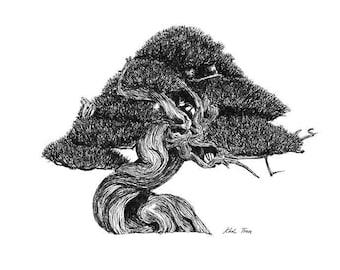 Bonsai_2 - Twisting- Print (8.5x11)